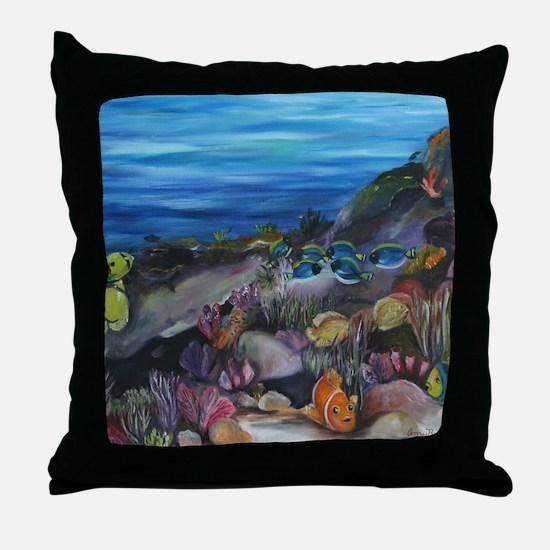 Coral Reef Nursery Throw Pillow