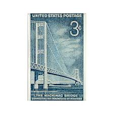 Cute Mackinac bridge Rectangle Magnet (10 pack)