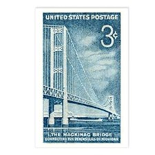 Unique Mackinac bridge Postcards (Package of 8)