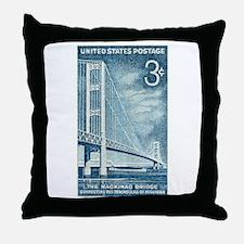 Funny Mackinac Throw Pillow