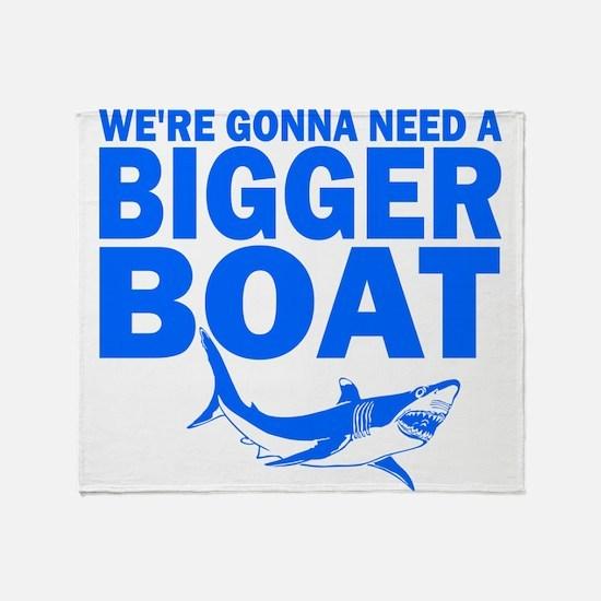 BiggerBoatJaws.png Throw Blanket