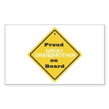 Proud Great Grandmother on Board Decal