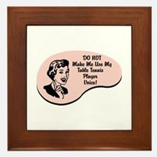 Table Tennis Player Voice Framed Tile
