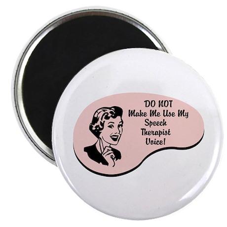 "Speech Therapist Voice 2.25"" Magnet (100 pack)"