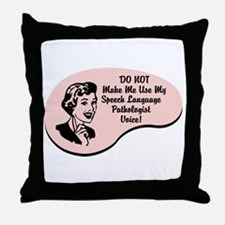 Speech Language Pathologist Voice Throw Pillow