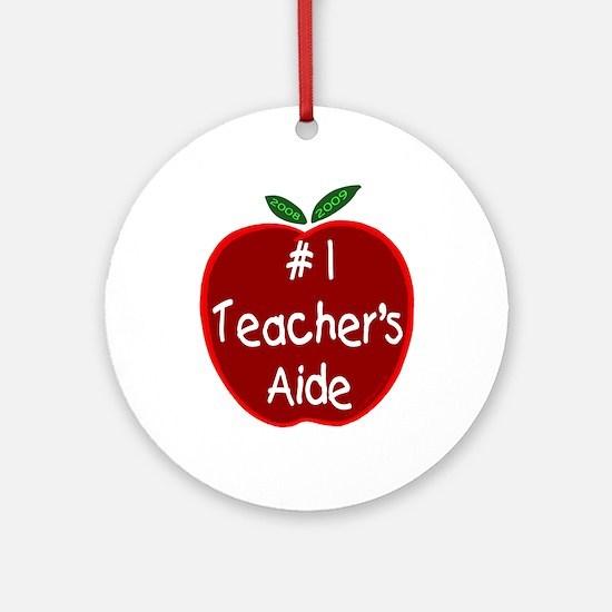 Apple for Teacher's Aide Ornament (Round)