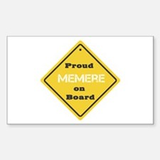 Proud Memere on Board Rectangle Decal