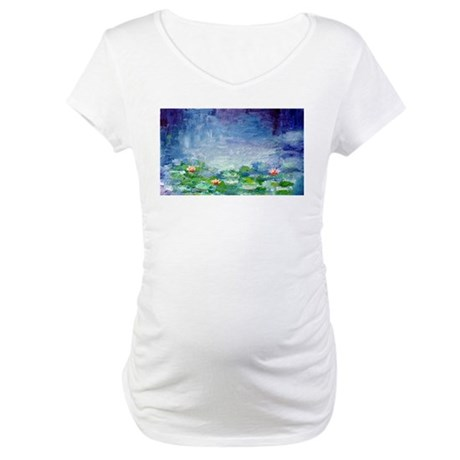 """Waterlilies"" Maternity T-Shirt"