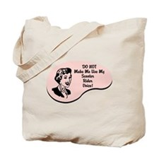 Scooter Rider Voice Tote Bag