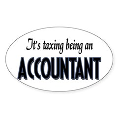 Accountant Oval Decal