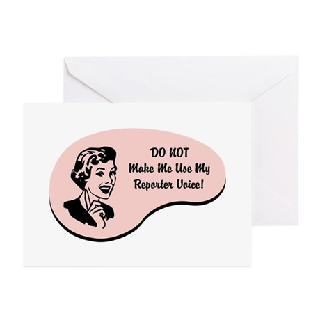 Reporter Voice Greeting Cards (Pk of 10)