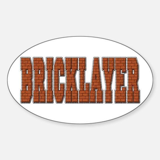 Bricklayer Oval Decal