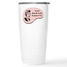 Receptionist Voice Thermos Mug