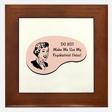 Psychiatrist Voice Framed Tile
