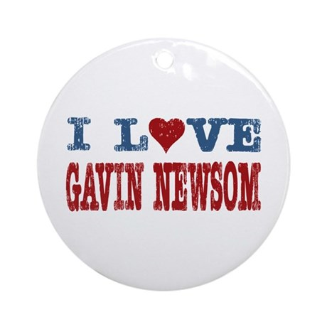 I Love Gavin Newsom Ornament (Round)
