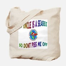 CHILD017-MY UNCLE A SEABEE Tote Bag