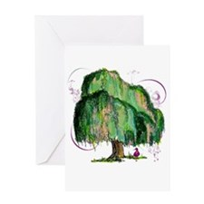 Whimsical Willow Greeting Card