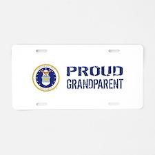 USAF: Proud Grandparent Aluminum License Plate