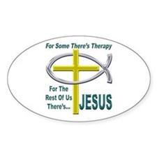 Jesus Therapy Oval Decal