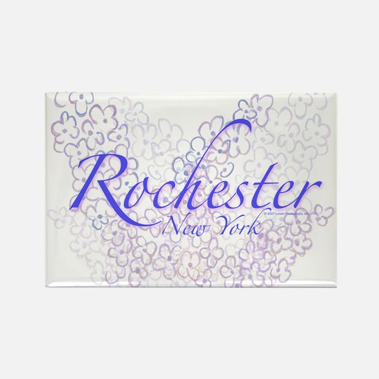 Rochester Lilacs Rectangle Magnet