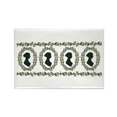 Jane Austen 4 Rectangle Magnet