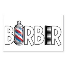 Barber Rectangle Decal
