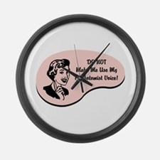 Phlebotomist Voice Large Wall Clock