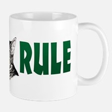 Penciled Tabby Cats Rule Mug