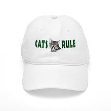 Penciled Tabby Cats Rule Baseball Cap