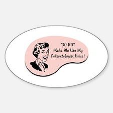 Paleontologist Voice Oval Stickers