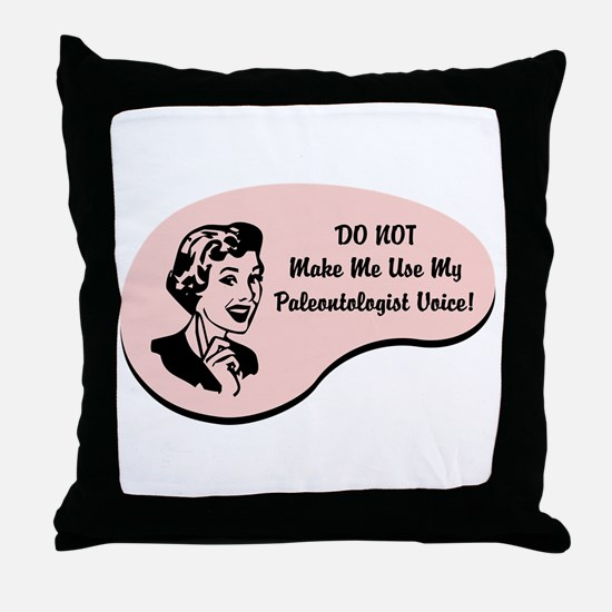 Paleontologist Voice Throw Pillow