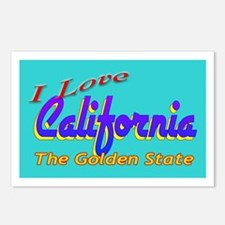 I Love California Postcards (Package of 8)