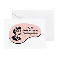 Oboe Player Voice Greeting Card