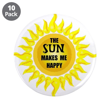 "SUNSHINE 3.5"" Button (10 pack)"