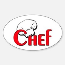 Chef Oval Decal