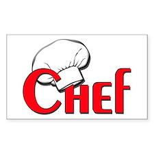 Chef Rectangle Bumper Stickers