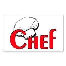 Chef Rectangle Stickers