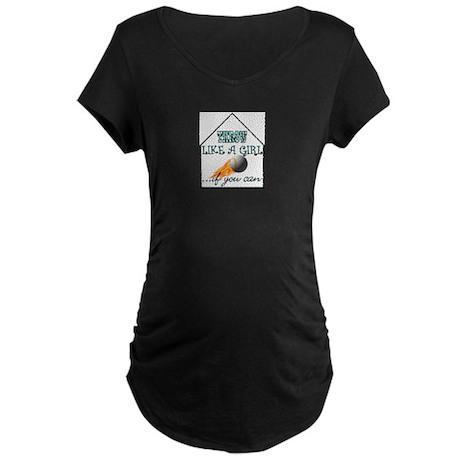SOFTBALL--COS, and more! Maternity Dark T-Shirt
