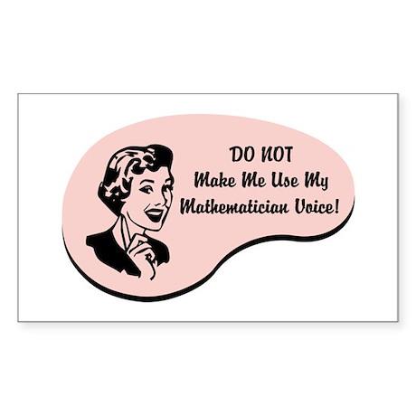 Mathematician Voice Rectangle Sticker