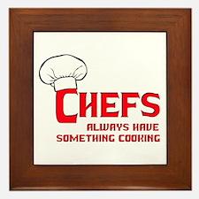 Chefs Cooking Framed Tile