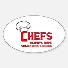 Chefs Cooking Oval Decal