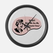 Mad Scientist Voice Large Wall Clock