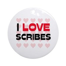 I LOVE SCRIBES Ornament (Round)