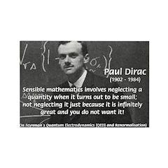 Paul Dirac Quantum Theory Rectangle Magnet (10 pac