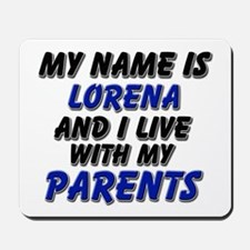 my name is lorena and I live with my parents Mouse