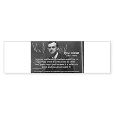 Paul Dirac Quantum Theory Bumper Bumper Sticker
