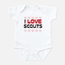 I LOVE SCOUTS Infant Bodysuit