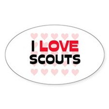 I LOVE SCOUTS Oval Decal