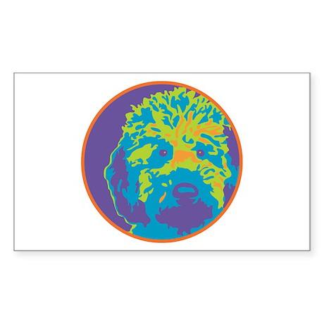 Labradoodle - Rectangle Sticker