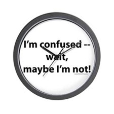 Funny Confusion Wall Clock